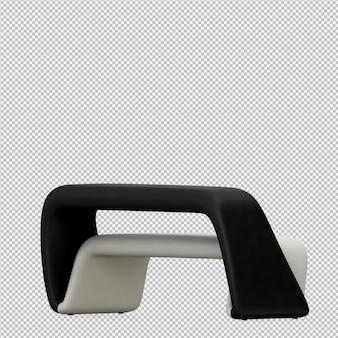 Cadeira de fezes pé isométrica 3d render