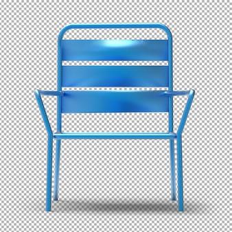 Cadeira de jardim isolada.