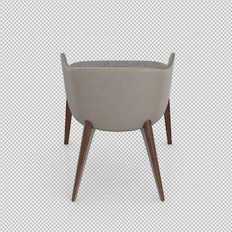 Cadeira isométrica 3d isolado render
