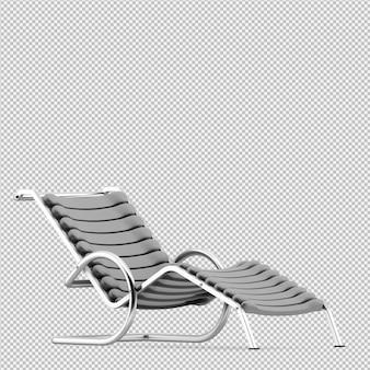 Cadeira isométrica 3d render