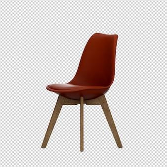 Cadeira isométrica 3d renderização isolada