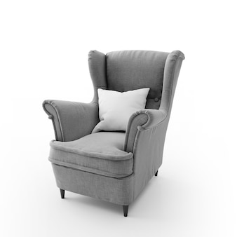 Cadeira moderna confortável isolada