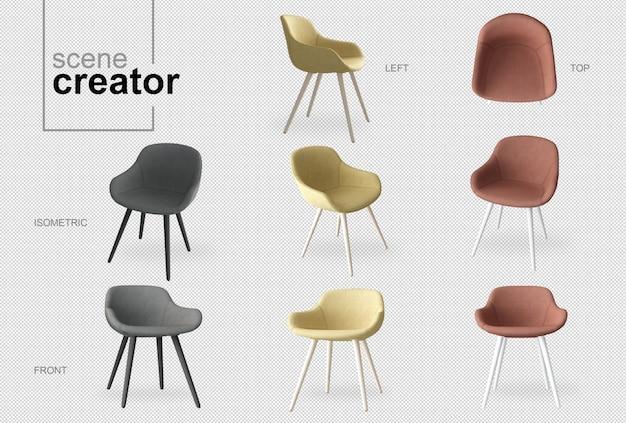 Cadeiras cena criador