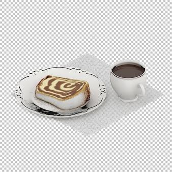 Café da manhã isométrico