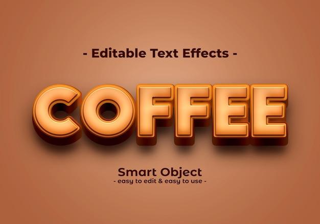Café-texto-estilo-efeito Psd grátis