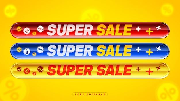Caixa acrílica colorida editável da super venda 3d