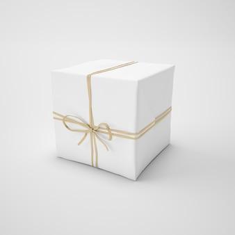 Caixa branca com cordão