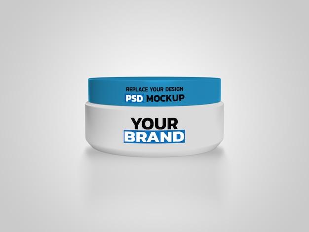 Caixa de creme cosmético rendering mockup