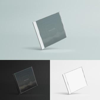 Caixa de discos compactos mock up