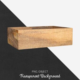 Caixa de madeira transparente