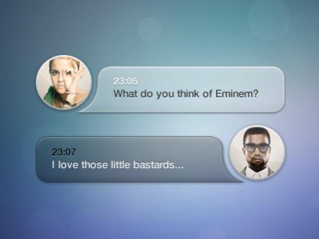 Caixa de mensagem com avatar psd