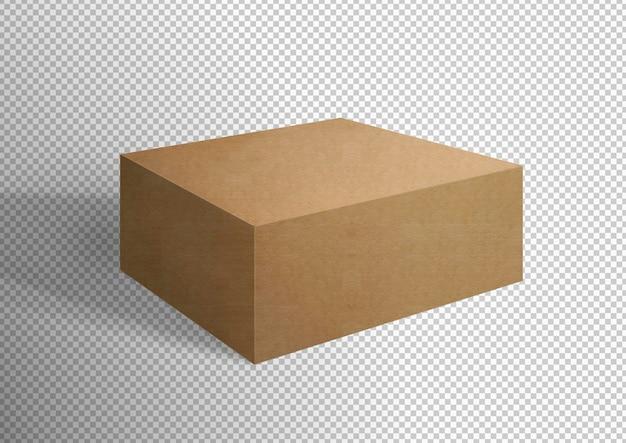 Caixa de papelão isolada
