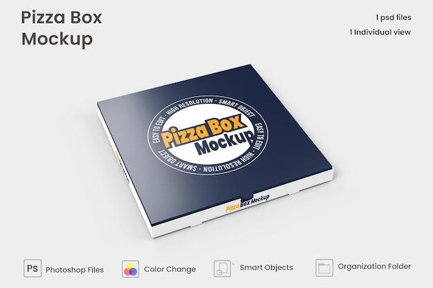 Caixa de pizza mock up isolado premium psd