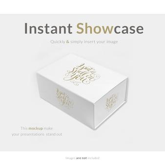 Caixa de presente branca com maquete
