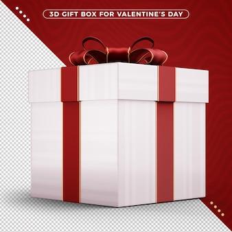 Caixa de presente com fita decorativa vermelha feliz dia dos namorados