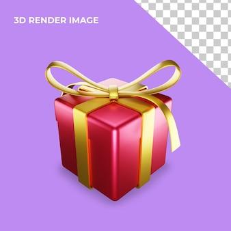 Caixa de presente com renderização 3d