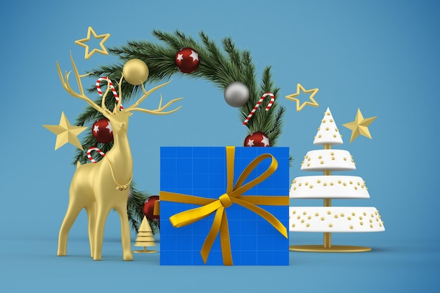 Caixa de presente de natal