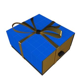 Caixa de presente dourada e escura