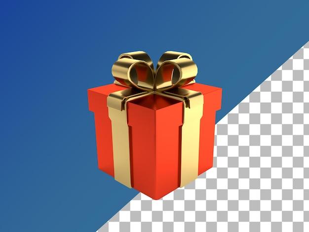 Caixa de presente renderizada em 3d isolada