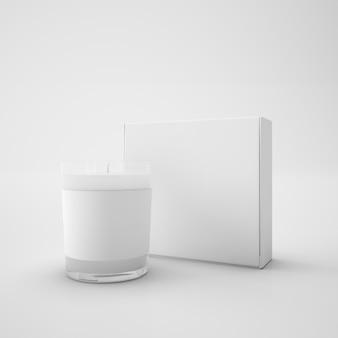 Caixa de presente vidro aniversário luz decoração perfume