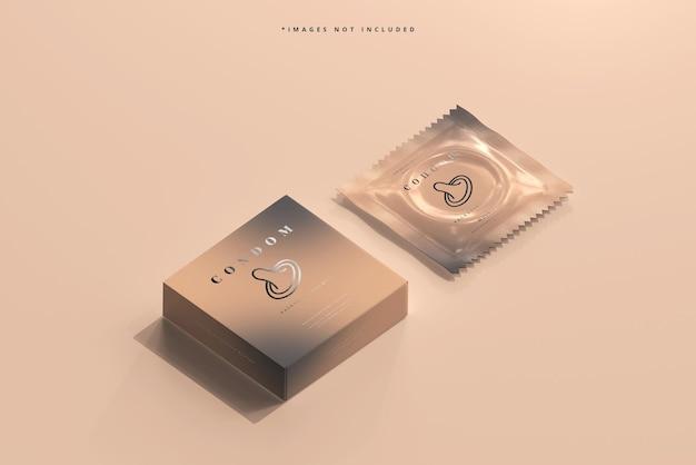 Caixa de preservativo e maquete de embalagem de alumínio
