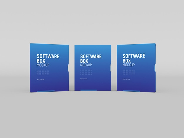 Caixa de software com maquete de manga