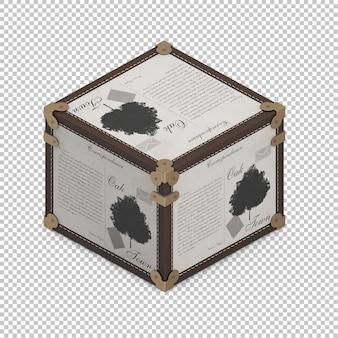 Caixa isométrica
