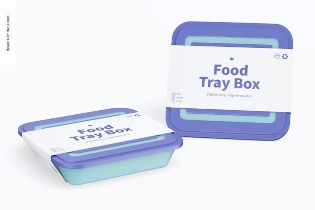 Caixas de bandeja de alimentos com tampa maquete