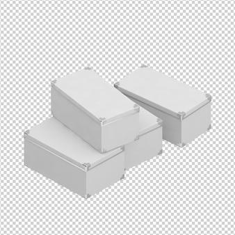 Caixas isométricas