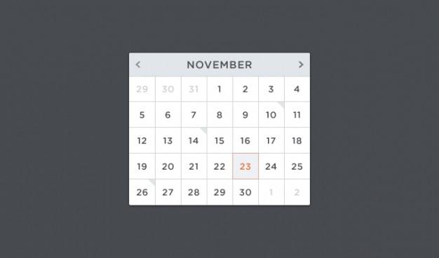 Calendar psd psd