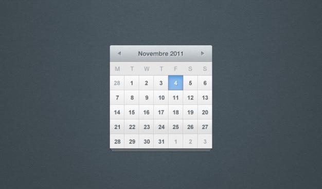 Calendário calendário psd psd ui