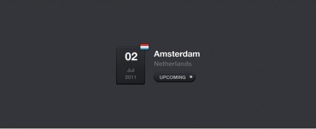 Calendário de eventos widget psd
