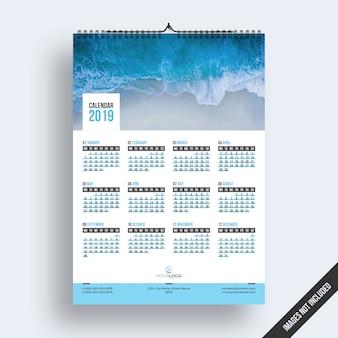 Calendário de parede 2019