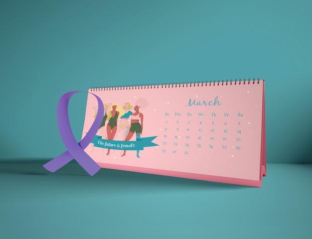Calendário do dia internacional da mulher