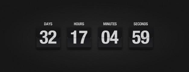 Calendário flop com número de dias