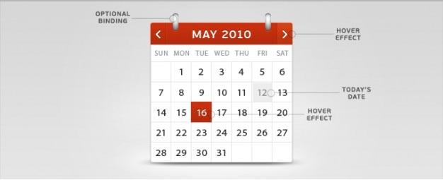 Calendário psd