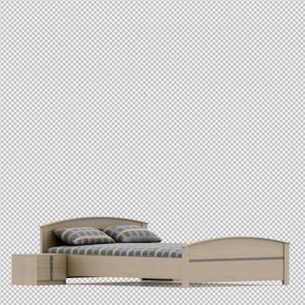 Cama isométrica 3d render