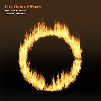 Camada de efeito de chamas de fogo circular