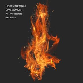 Camada de efeito de chamas de fogo