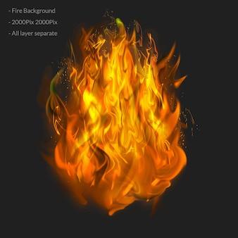Camada de efeito de fogo