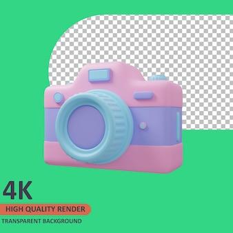 Câmera 3d ícone do viajante ilustração renderização de alta qualidade