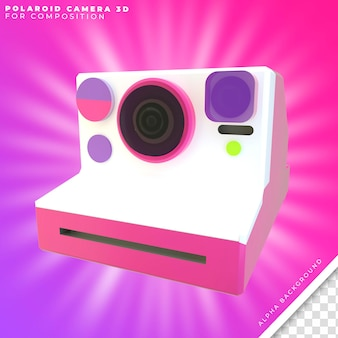 Câmera polaroid 3d
