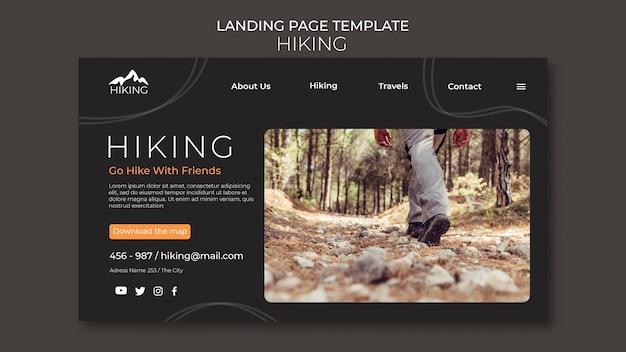 Caminhando o modelo da página de destino do anúncio