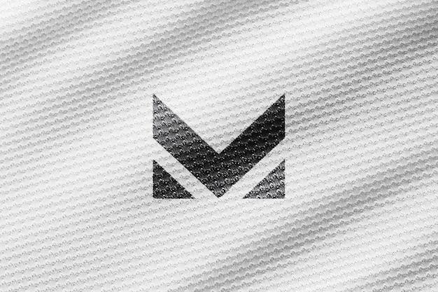 Camisa branca fechar maquete realista
