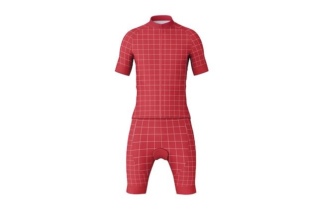 Camisa de ciclismo com maquete de calça curta