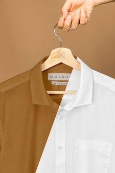 Camisa maquete de perto