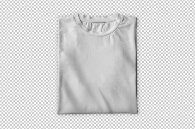Camiseta branca dobrada isolada