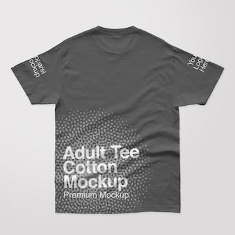 Camiseta de algodão adulto para trás maquete