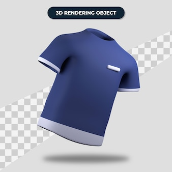 Camiseta de renderização 3d