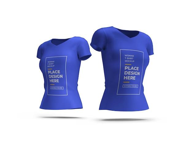 Camiseta feminina maquete 3d isolada
